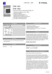 STW 1001 STW 1002 - Schleicher Electronic