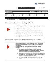 Hinweise zum Formatieren der Compact FLASH - Schleicher ...