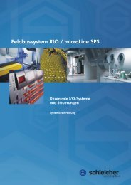 Systembeschreibung RIO / microLine - Schleicher Electronic