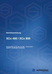 Betriebsanleitung XCx 400_800 - Schleicher Electronic