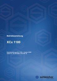 Betriebsanleitung XCx 1100 - Schleicher Electronic