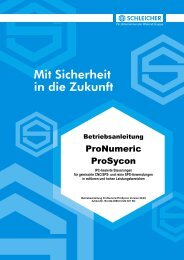 Betriebsanleitung ProNumeric/ProSycon - Schleicher Electronic