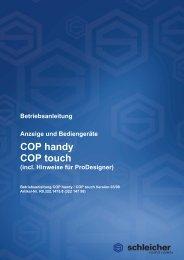 Betriebsanleitung COP - Schleicher Electronic