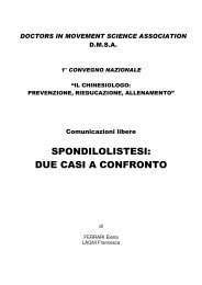 SPONDILOLISTESI: DUE CASI A CONFRONTO - DMSA