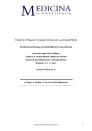 terapia termale e riabilitativa nella gonartrosi - Medicina clinica e ...
