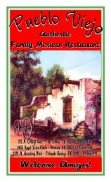 Menu - Dining and Desserts