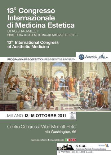 13o Congresso Internazionale di Medicina Estetica