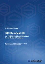 RIO Kompakt-I/O - Schleicher Electronic