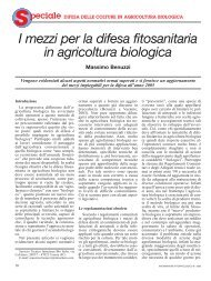 I mezzi per la difesa fitosanitaria in agricoltura biologica
