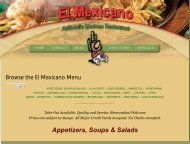 Browse the El Mexicano Menu - Mid Michigan Deals.com