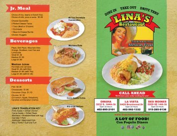 Menu - Lina's Mexican Food