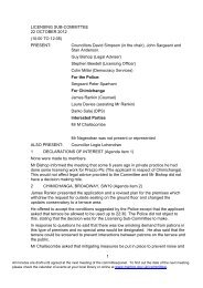 Minutes of this meeting - Merton Council
