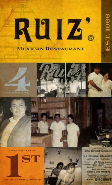 Click here for our menu in pdf format - Ruiz Mexican Restaurant