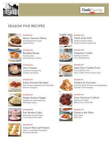 season five recipes - WUSF