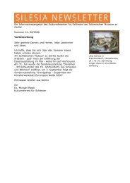 SILESIA NEWSLETTER Nr. 41 - Schlesisches Museum zu Görlitz