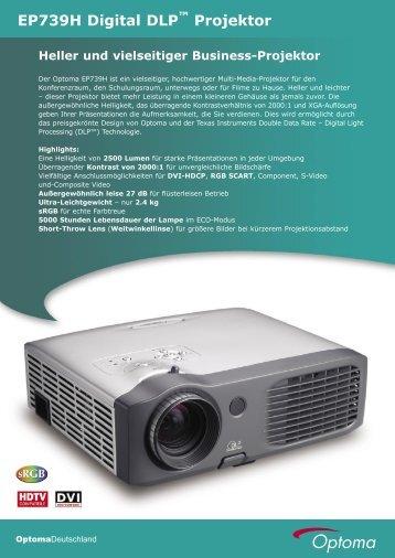 EP739H Digital DLP Projektor