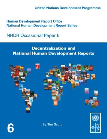 Decentralization - Human Development Reports - United Nations ...