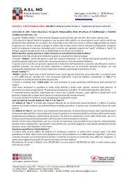 Diabete mellito di tipo 2 - ASL 13 Novara