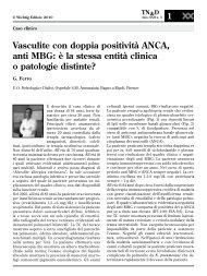Vasculite con doppia positività ANCA, anti MBG: è la stessa entità ...