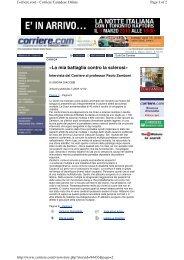 «La mia battaglia contro la sclerosi» - CCSVI e Sclerosi Multipla