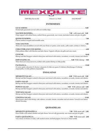 Our Menu - 2ClickstoSave