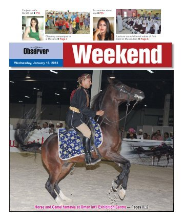 Horse and Camel fantasia at Oman Int'l Exhibition Centre — Pages ...