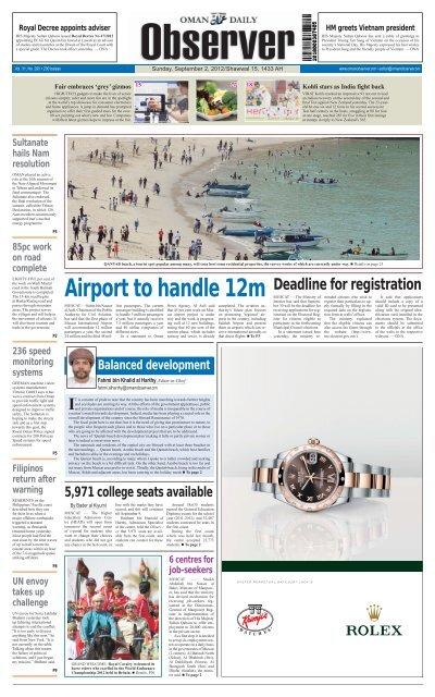 Observer Busness 2 Sep 2012 Oman Daily Observer
