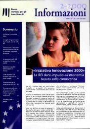 BEI Informazioni 2-2000 (n°105) - European Investment Bank