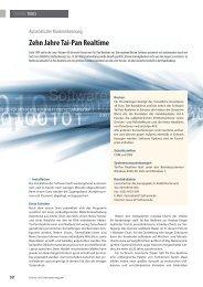 Zehn Jahre Tai-Pan Realtime - Lenz+Partner AG