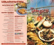 Tampico 8 Page Menu - Tampico Mexican Restaurants