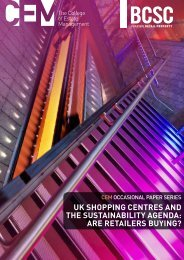 uk shopping centres and the sustainability agenda: are retailers buying?