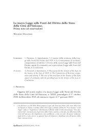 La nuova Legge sulle Fonti del Diritto dello Stato ... - Iuscanonicum.it