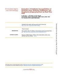 Evaluation of Antibiotic Susceptibilities of Ehrlichia canis, Ehrlichia ...