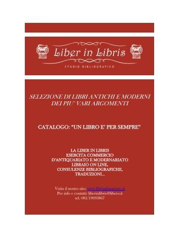 selezione di libri antichi e moderni dei piu' vari ... - Libriantiquariato.it