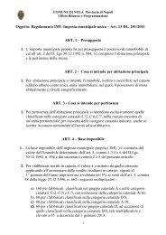 Oggetto: Regolamento IMU Imposta municipale ... - Comune di Nola