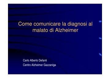 Come Comunicare La Diagnosi Al Malato Di Alzheimer - Bergamo ...