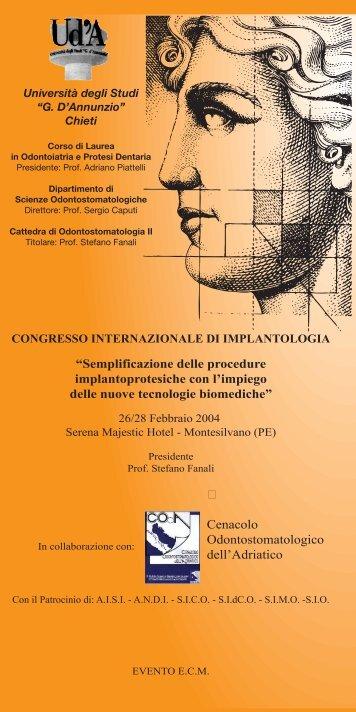 Brochure del Congresso.pdf - Odontoiatria