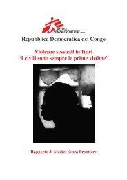 Violenze sessuali in Ituri - Medici Senza Frontiere