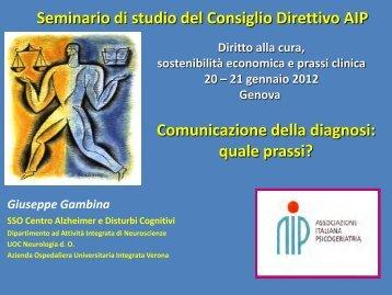 Diagnosi - Associazione Italiana di Psicogeriatria