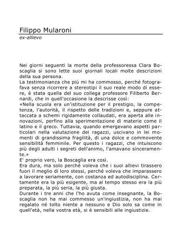 Filippo Mularoni - Portale per l'educazione