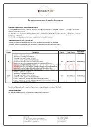 Corso primo soccorso per le squadre di emergenza - Master For