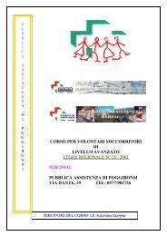 corso per volontari soccorritori - Pubblica Assistenza Poggibonsi