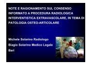 Consenso procedure i.. - Sezione di Radiologia Muscolo-Scheletrica