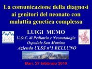 Comunicazione della diagnosi - Associazione A.ME.GE.P ...