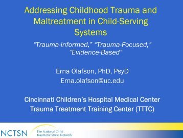 Common Parental Issues in Child Traumatization - Ohio Association ...