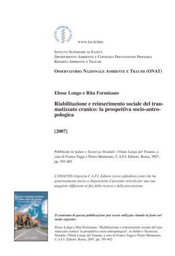 """""""Riabilitazione e reinserimento sociale del traumatizzato cranico: la ..."""
