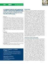 le lesioni capsulo-legamentose acute - Giornale Italiano di ...