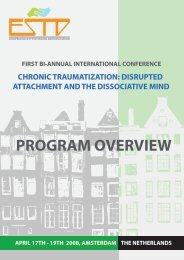 program overview - European Society for Trauma and Dissociation
