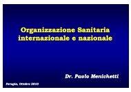 Organizzazione Sanitaria i i l i l i i l i l internazionale e nazionale