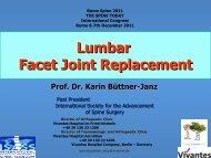 Lumbar Facet Joint Replacement